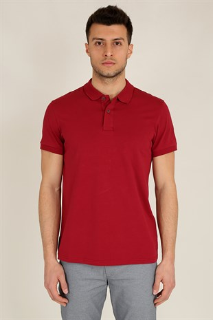 Erkek Polo Yaka T-Shirt 20Y-3400720-1 Bordo
